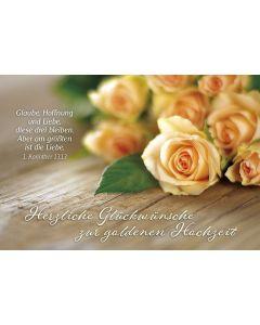 Faltkarte: Herzliche Glückwünsche zur goldenen Hochzeit