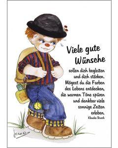 Postkarten: Viele gute Wünsche, 12 Stück