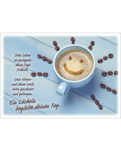 Postkarten: Ein Lächeln begleite deinen Tag, 4 Stück