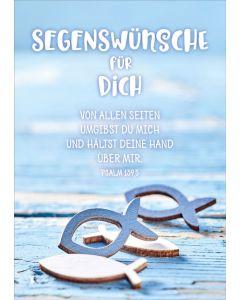 "Faltkarte ""Holzfische"" - Konfirmation"