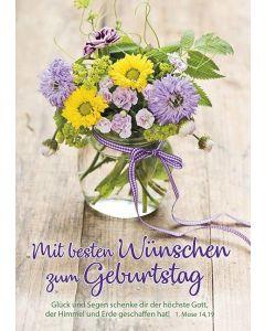 Postkarten: Mit besten Wünschen zum Geburtstag, 4 Stück