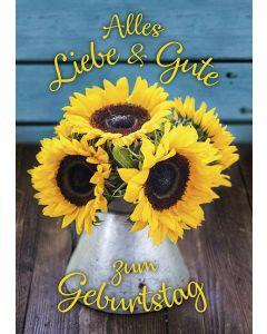 Postkarten: Alles Liebe & Gute zum Geburtstag, 12 Stück