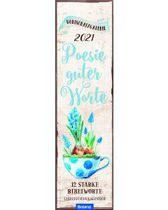 Poesie guter Worte 2021 - Lesezeichenkalender