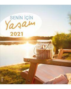 Leben für Dich 2021 - Türkisch Postkartenkalender