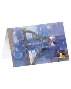 """Kunstkarten """"Blaue Harfe"""" - 5 Stk"""