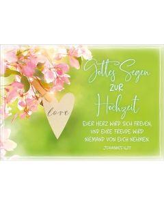 Faltkarte - Gottes Segen zur Hochzeit