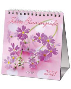 Zarte Blumengrüße 2021 - Tischkalender