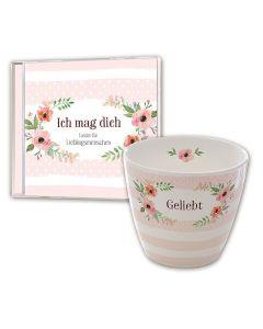 """Set: Tasse """"Geliebt"""" & CD """"Ich mag Dich"""