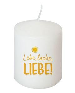 Kerze - Lebe, lache, liebe!