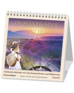 In seiner Spur 2021 - Postkartenkalender