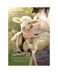 Jahreslosung 2021 - Postkarten, 4 Stück - Schaf
