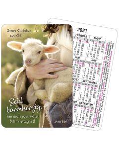 Jahreslosung 2021 - Spielkartenkalender - Schaf