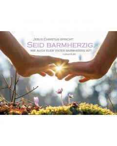 Jahreslosung 2021 - Postkarten, 4 Stück - Hände