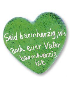 """Jahreslosung 2021 - Handschmeichler """"Herz"""" grün"""