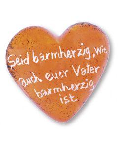 """Jahreslosung 2021 - Handschmeichler """"Herz"""" orange"""