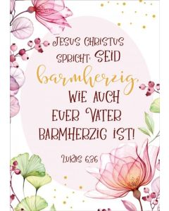 """Jahreslosung 2021 - Postkarten """"Blume"""" 12 Stück"""