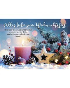 Postkarten: Alles Liebe zum Weihnachtsfest, 12 Stück