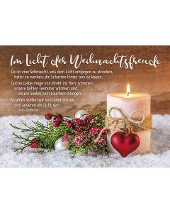 Postkarten: Im Licht der Weihnachtsfreude, 4 Stück