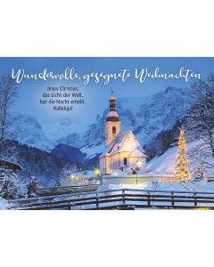 Postkarten: Wundervolle, gesegnete Weihnachten, 12 Stück