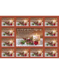 Aufkleber-Gruß-Karten: Im Licht der Weihnachtsfreude 4 Stück