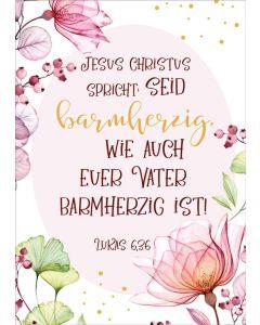 "Jahreslosung 2021 - Poster A4 ""Blume"""