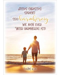 "Jahreslosung 2021 - Poster A3 ""Vater&Sohn"""