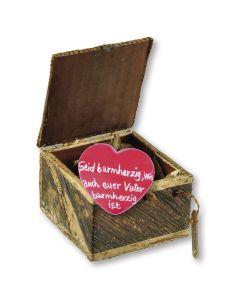 """Jahreslosung 2021 - Geschenkbox m. Handschmeichler """"Herz"""" rot"""
