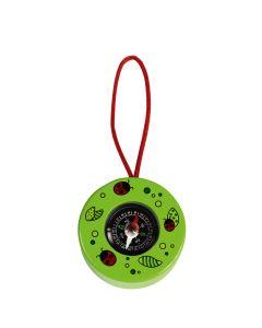Kompass für Kinder aus Holz - grün