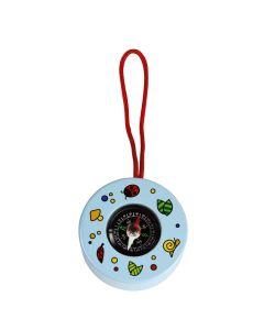 Kompass für Kinder aus Holz - blau