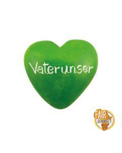 Handschmeichler Taschenherz aus Speckstein - grün