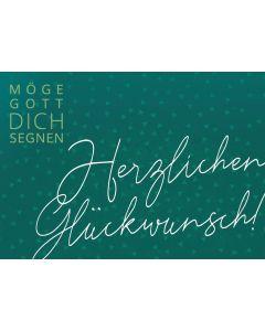 Postkarte - Herzlichen Glückwunsch (grün)