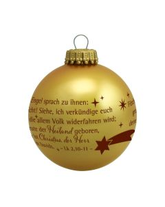 "Christbaumkugel ""gold"""