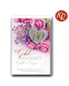 Faltkarte - Goldene Hochzeit Ps. 126,3