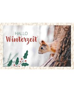 Teekarte - Hallo Winterzeit