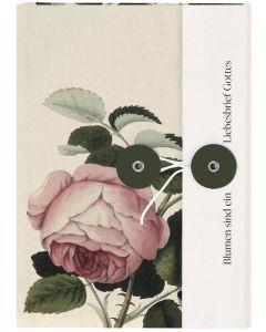 Notizbuch mit Knopf - Blumen sind ein Liebesbrief Gottes