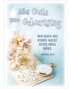 """Postkartenserie """"Alles Gute zum Geburtstag"""" 12Stk."""