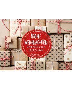 """Postkartenserie """"Weihnachtspäckchen"""" - 12 Stück"""