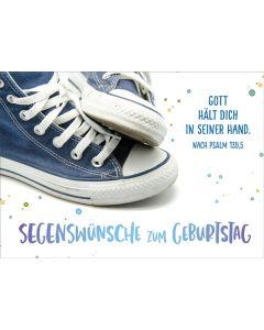 """Postkartenserie """"Blaue Sneakers"""" - 12Stk."""