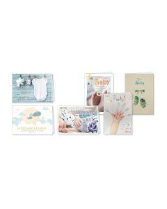 Faltkarten Geburt - 6er Set