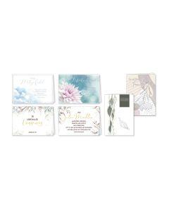Faltkarten Trauer - 6er Set