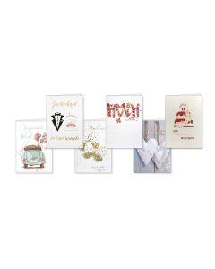 Faltkarten Hochzeit - 6er Set