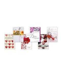 Faltkarten Silberhochzeit - 6er Set