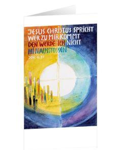 Jahreslosung 2022 - Faltkarte mit Bildbetrachtung 10er Set