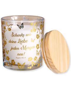 """Duftkerze """"Schenke uns deine Liebe"""" (Gold-Edition)"""