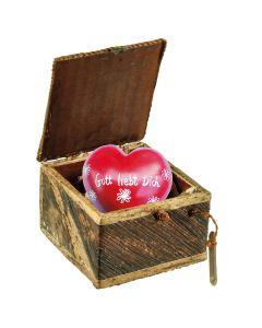 Geschenk-Box mit Herz  - Gott liebt Dich