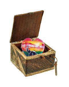 Geschenk-Box mit Herz  - Gott gebe dir Kraft