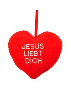 """Kissen """"Jesus liebt Dich"""" - Plüschherz"""