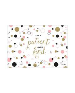 "Postkarte ""Love is patient"""