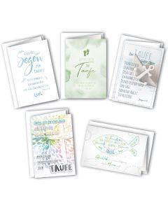 Faltkarten - Taufe 5er Set