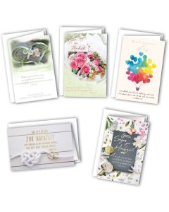 Faltkarten - Hochzeit 5er Set